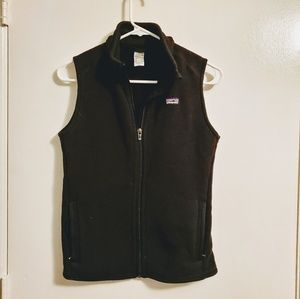 Patagonia Womens Black Zippered Vest Medium